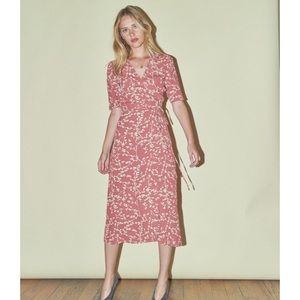 Rouje Gabin dress in pink holly